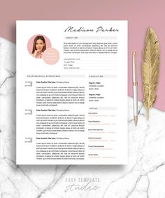 Your place to buy and sell all things handmade One Page Resume Template, Modern Resume Template, Cv Template, Resume Templates, Microsoft Word 2007, My Resume, Cover Letter Template, Creative Resume, My Design