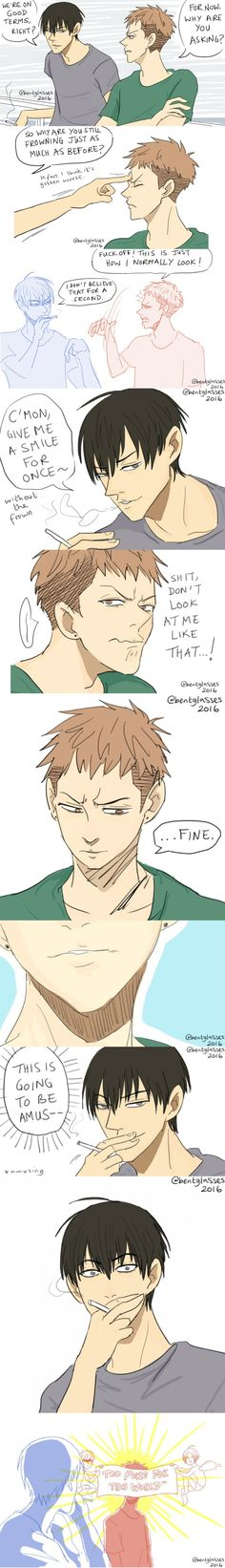 Mo Guan Shan who smile in real to He Tian! I want to see that!