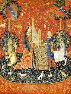 Bildnachweis: « Les Tapisseries de la Dame à la Licorne : l' ouie » Paris, Musée de Cluny 1480