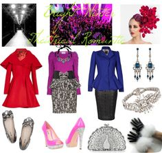 """Bright Winter Theatrical Romantic"" by thewildpapillon on Polyvore"
