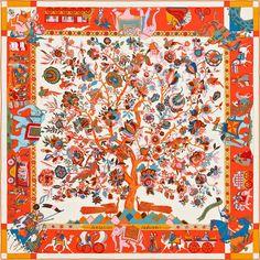 "55"" x 55"" scarf Hermès | Fantaisies Indiennes"