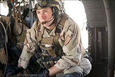 USAF Pararescue Jumper on mission over Afghanistan