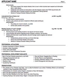 Librarian Resume Sample ResumecompanionCom Books  Resume