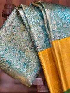 Pattu Sarees Wedding, Indian Bridal Sarees, Wedding Silk Saree, Indian Silk Sarees, Pure Silk Sarees, Kanjivaram Sarees Silk, Kanchipuram Saree, Saree Blouse Neck Designs, Half Saree Designs
