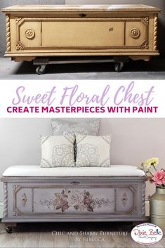 This adorable chest was painted with Mason Dixon Gray, Soft Pink and Bronze Patina. Eco Furniture, Hand Painted Furniture, Paint Furniture, Upcycled Furniture, Furniture Projects, Furniture Makeover, Distressed Furniture, Diy Projects, Dresser Table