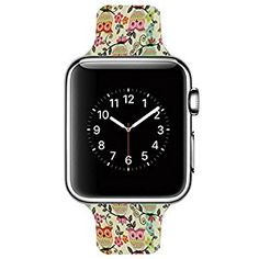 Amazon.com: Apple Watch iWatch Band Replacement Genuine Leather Silicone Milanese Loop Luxury Watch Cuff Bracelet Strap for Sport Style Wristband 38mm 42mm Models (38 mm Owls): Cell Phones & Accessories #amazon #apple #iwatch