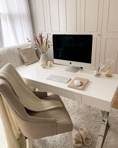 Home Office Setup, Home Office Space, Home Office Design, Home Interior Design, Office Inspo, Office Ideas, Study Office, Small Office, Study Room Decor