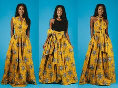 Shop for on Etsy, the place to express your creativity through the buying and selling of handmade and vintage goods. African Maxi Dresses, African Attire, African Wear, African Women, Frock Fashion, Fashion Skirts, Ankara Clothing, Multi Way Dress, Ghanaian Fashion