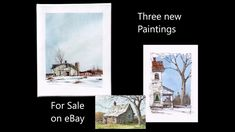3 Original Watercolors by Peter Sheeler. For sale on eBay. Peter Sheeler, Sale On, Paintings For Sale, Watercolors, World, Youtube, Movie Posters, Ebay, Art