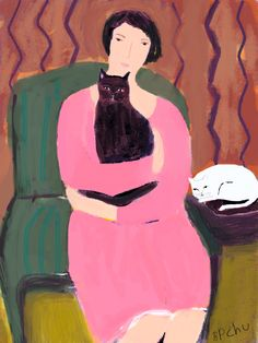 Barbara Perrine Chu  Woman in Pink