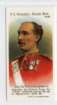 #46 Lieut. Col. Dick-Cunyngham VC - vc heroes boer war 1 Military R Card