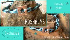 Las Manualidades de Roshalyss: pulsera de diseño exclusivo-estrella polar