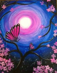 Get event details for Sun May 08 2016 2 - Flutter under the Stars Join the paint and sip party at this Ellicott City MD studio # Spring Painting, Paint And Sip, Beginner Painting, Beautiful Paintings, Painting Inspiration, Painting & Drawing, Star Painting, Painting Tips, Cool Art