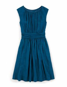 Selina Dress WH700 Dresses at Boden love this teal color and the lines of this dress