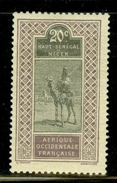 Upper Senegal & Niger Selections I: Scott #24 MH 20c Camel & Rider Issue