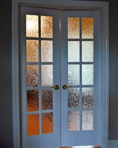 Decorative Glass Solutions :: Custom Stained Glass & Custom Leaded Glass Windows, Doors and More. Stained Glass Window Panel, Glass Decor, Glass French Doors, Beveled Glass, Glass Design, French Doors, Custom Stained Glass, Window Panels, Pattern Glass