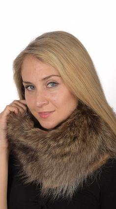 Caldo scaldacollo in autentica marmotta. Amifur.it accessori in pelliccia naturale.  www.amifur.it