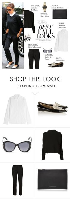 """""""Professional Look: Victoria Beckham"""" by putricp ❤ liked on Polyvore featuring dVb Victoria Beckham, H&M, Jimmy Choo, Cutler and Gross, Victoria Beckham, Marc by Marc Jacobs, chic and victoriabeckham"""