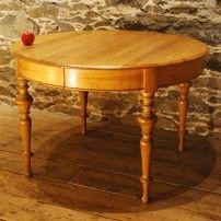 Round Antique Danish Pine Dining Table, Circa 1880