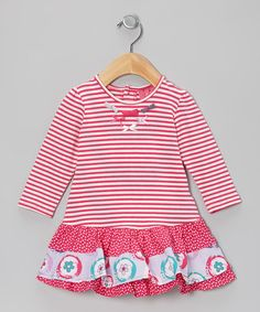 Take a look at this Barely Pink Ruffle Drop-Waist Dress - Infant by Chapô Pointû on #zulily today!