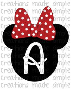 Minnie Mouse Inspired Personalized Transfer by CreationsMadeSimple, $1.99