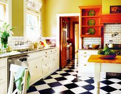 Kitchens Friendly for Any Period This transitional kitchen is a good model with timeless ideas for houses late Victorian through Depression era.