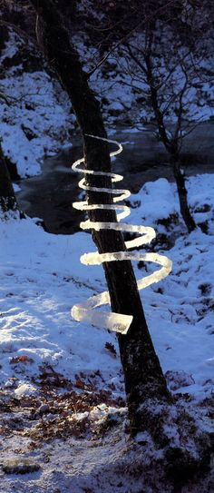 Andy Goldsworthy. earth art. i've been trying to remember this name for my art classes back in community college.