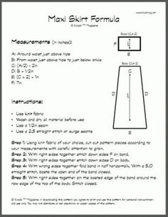maxi skirt formula