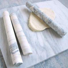Rolling Pin Marble White kitchen, white, prep