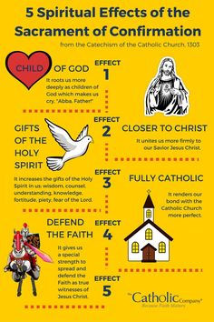 5 Spiritual Effects of the Sacrament of Confirmation according to the Catholic Catechism