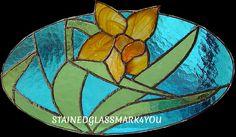 Yellow Daffodil Stained Glass. Suncatcher. by Stainedglassmark4you