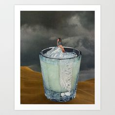 DRINK+Art+Print+by+Beth+Hoeckel+Collage+&+Design+-+$19.00