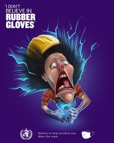 Rubber Gloves, Ads, Advertising, How To Wear, Typo, Template, Social Media, Creative, Design