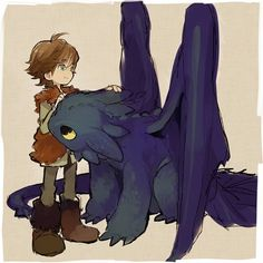 Tags: Anime, Soto, How to Train Your Dragon, Toothless, Hiccup Horrendous Haddock III