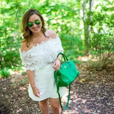 White and Green  (Photo: @ceislin) #fashion #fashiongram #style #love #currentlywearing #lookbook #wiwt #whatiwore #whatiworetoday #ootdshare #outfit #wiw #mylook #fashionista #todayimwearing #instastyle #instafashion
