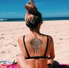 Dope Tattoos, Back Tattoos, Cover Up Tattoos, Mini Tattoos, Body Art Tattoos, Sleeve Tattoos, Tatoos, Flor Tattoo, Mandala Tattoo