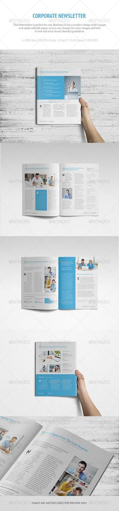 Newsletter Template - 3 Newsletter templates, Print templates - Newsletter Format