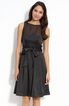 Js Collections Illusion Bodice Satin Dress @Lyst