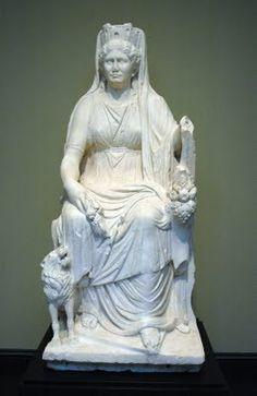 Cibeles, Diosa de la Madre Tierra - Mitologia Griega -