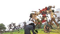 Peter Pan, illustration by Giacobino