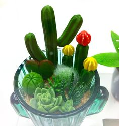 Here's a miniature cactus I made recently How does it look?