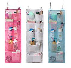 High Quality Mesh 8 Pocket Quick Dry Bath Shower Caddy Travel Gym Dorm Hanging Tote