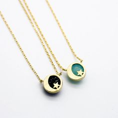 Crescent moon star necklace – Imsmistyle.