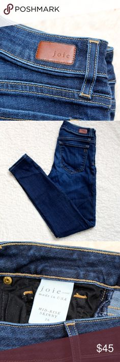 """Joie Midrise Jeans Size 26 29"""" inseam Joie Jeans Ankle & Cropped"""