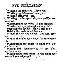 how to flirt with eyes
