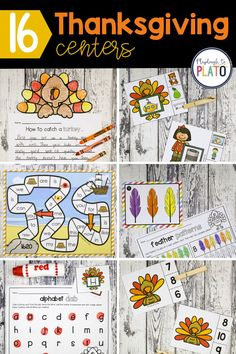 Have you been looking for some awesome and fun math and literacy centers that have a Thanksgiving theme? We've compiled 16 Thanksgiving centers that are perfect for Pre-K and Kindergarten. They include sight word games, rhyming clip cards, ABC games, and more! They will make lesson planning so much easier! #earlylearners #prek #preschool #kindergarten Kindergarten Centers, Math Literacy, Preschool Kindergarten, Fun Math, Literacy Centers, Thanksgiving Activities For Kids, Autumn Activities, Thanksgiving Crafts