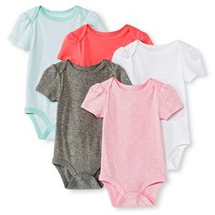 Circo™ Baby Girls' 5-Pack Bodysuit - Pink