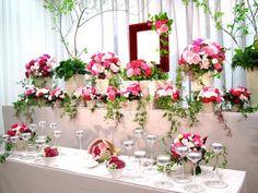 まるで結婚式?!イマドキの葬儀の祭壇がオシャレ - NAVER まとめ Funeral Flower Arrangements, Funeral Flowers, Altar, Floral Wreath, Wreaths, Table Decorations, Japanese, Google, Home Decor
