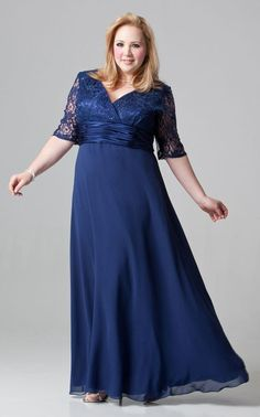 Plus Size Gowns For Mother Of The Bride - Gowns are fast becoming Fashionista 's' choice. Mother Of The Bride Plus Size, Mother Of The Bride Gown, Mother Of Groom Dresses, Bride Groom Dress, Bride Gowns, Mothers Dresses, Mother Bride, Half Sleeve Dresses, Mob Dresses