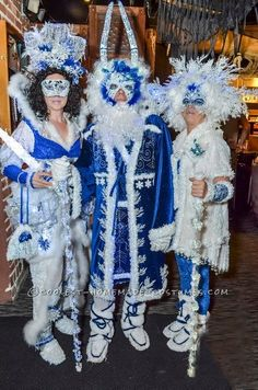 Winter wonderland group costume ice queen jack frost and snow